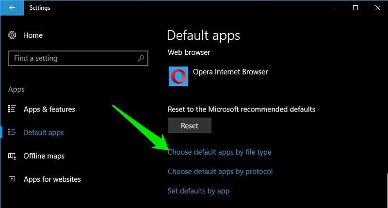 choose default apps