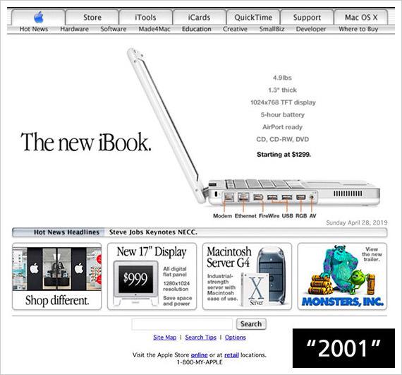 apple 2001