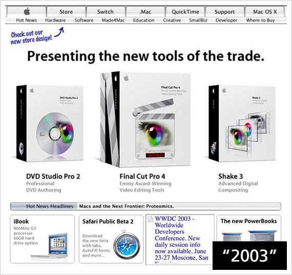 apple 2003