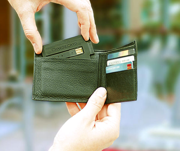 chargecard in wallet