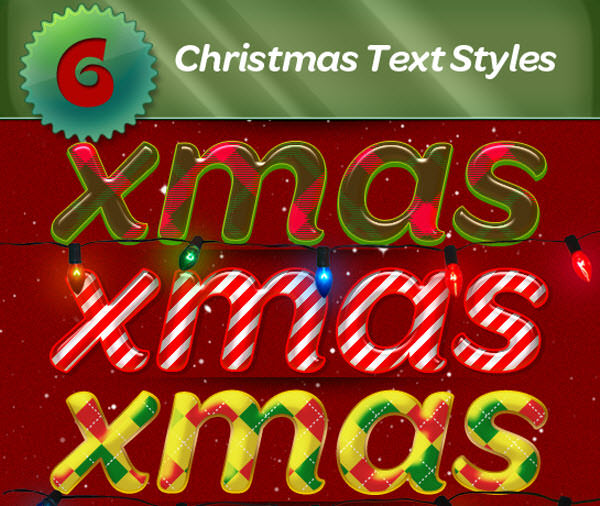 xmas layer styles