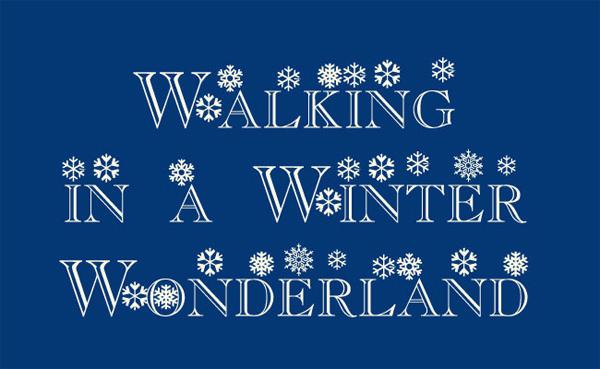 flakes-christmas-font
