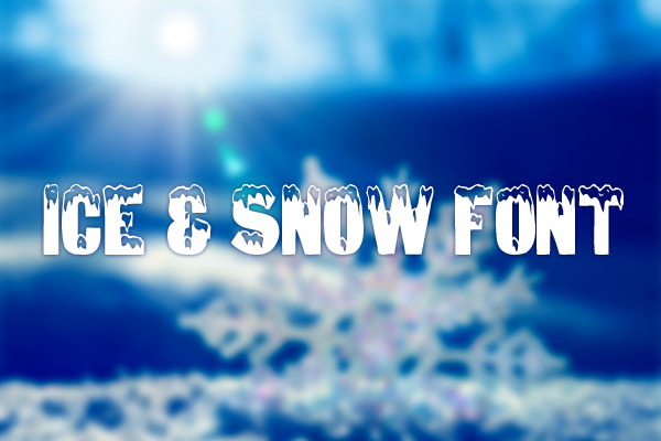 ice-and-snow-christmas-font