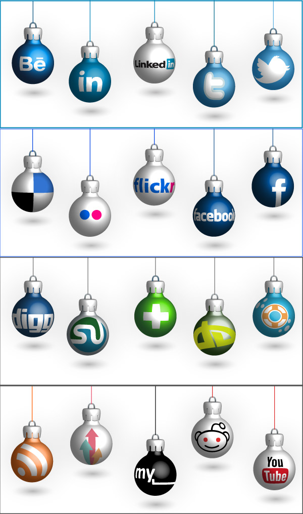 christmas-social-icon-set