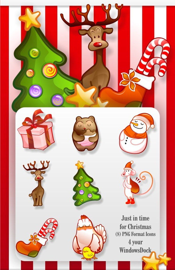 christmas-dock-icon-set