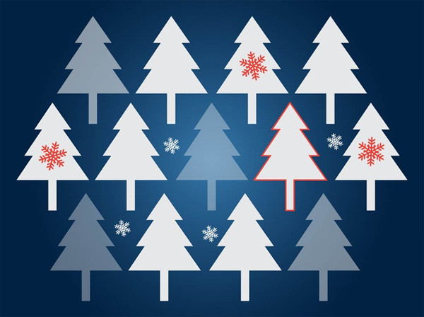 christmas-trees-vector-background