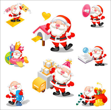 Happy Santa icons