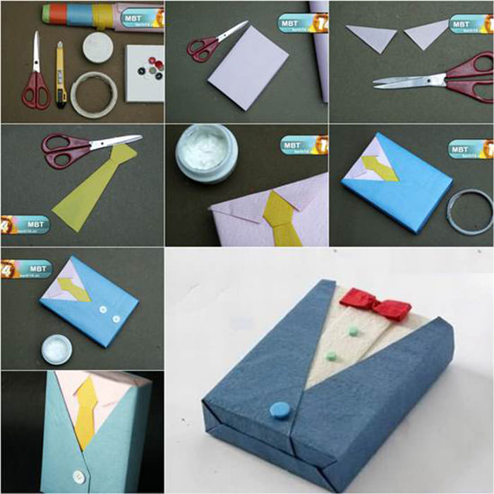 Christmas gift wrapping 28 tutorials to do it likeaboss hongkiat suit and tie wrapper another creative and unique gift wrapping negle Images