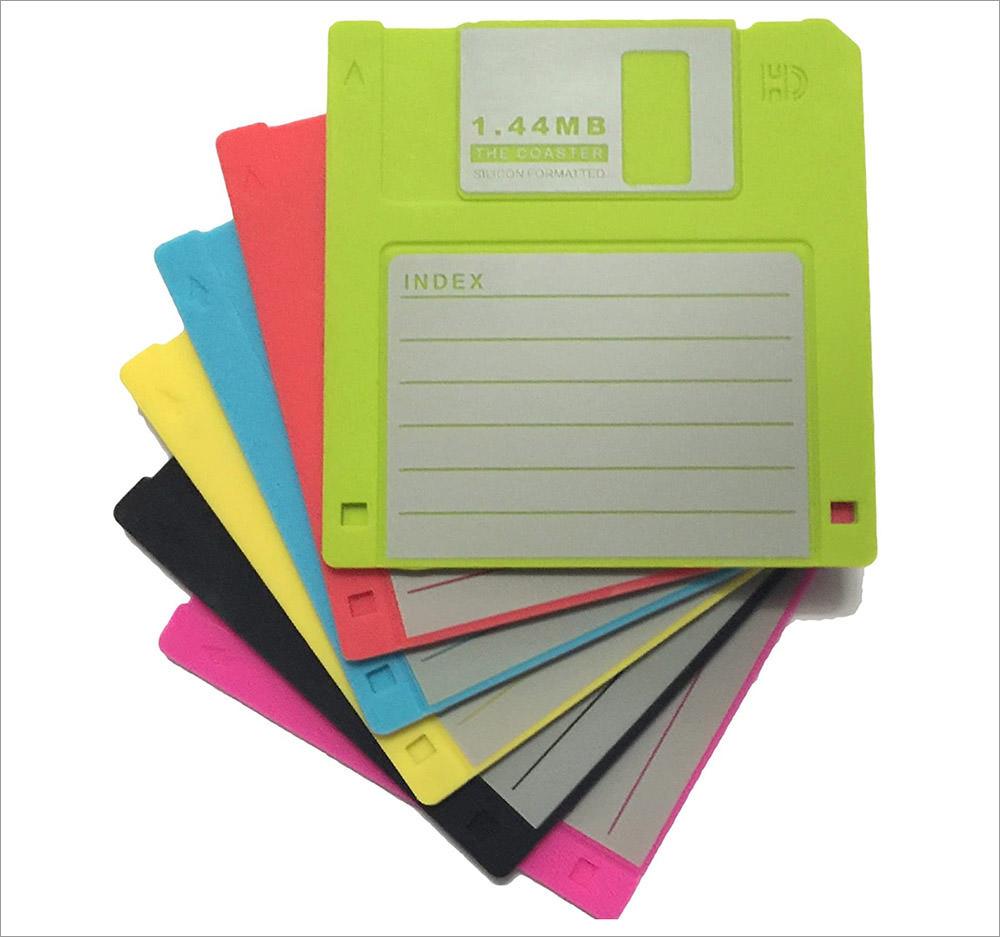 Retro Disk Coasters