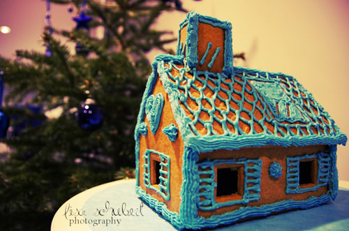 Icing Gingerbread House