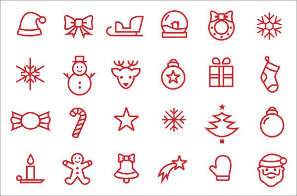christmas design icons