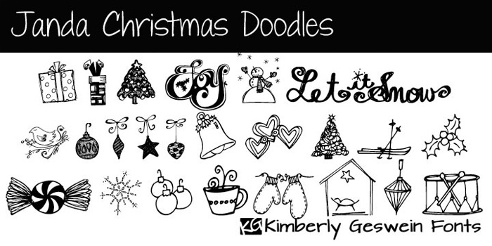 christmas fonts by Kimberly Geswein