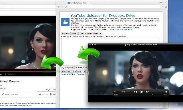 YouTube Uploader for Dropbox, Drive