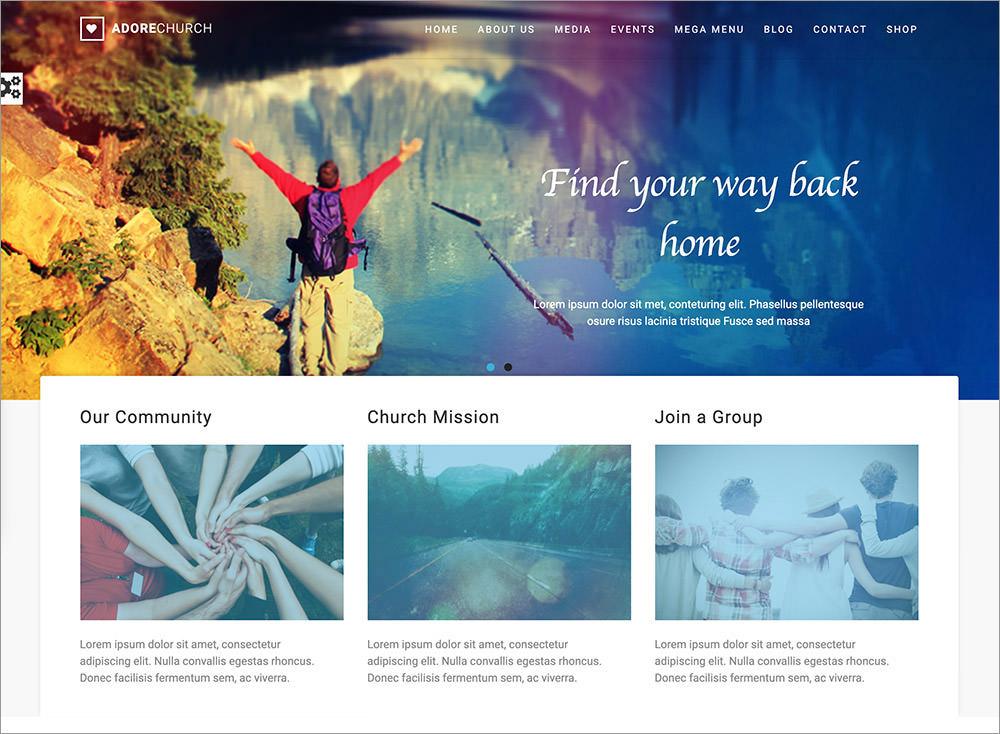 Adore Church WordPress Theme