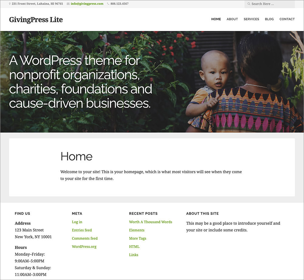 GivingPress Lite WordPress Theme