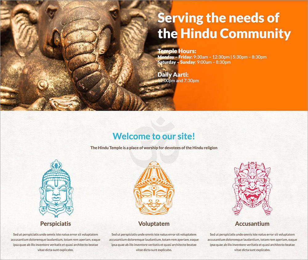 Hindu Temple WordPress Theme