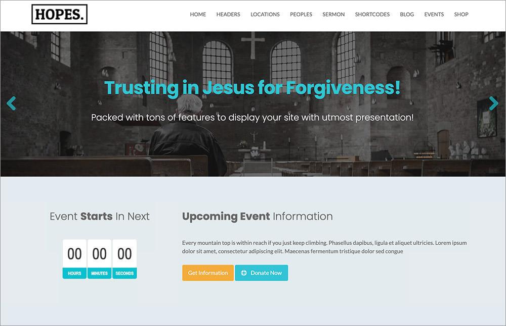 Hopes WordPress Theme