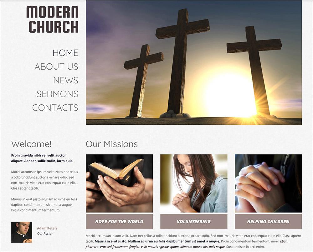 Modern Church WordPress Theme