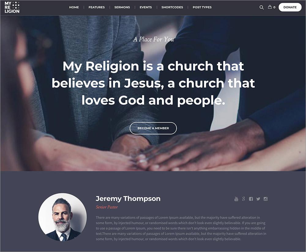 My Religion WordPress Theme