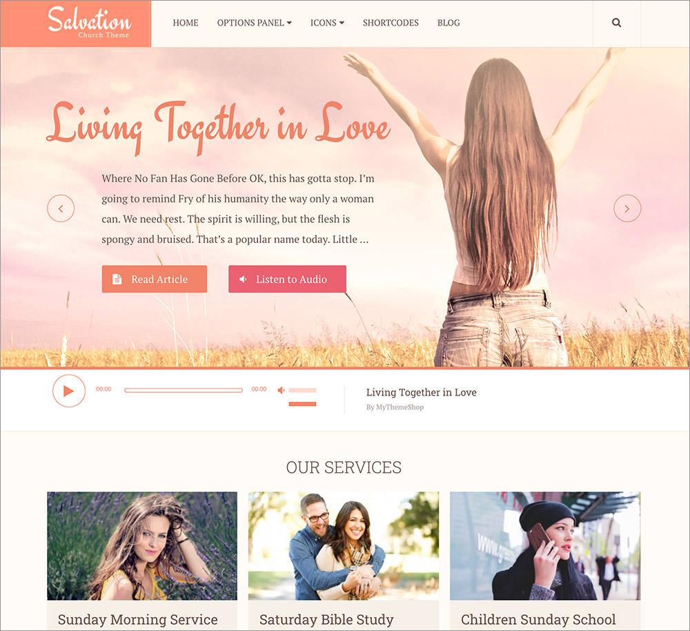 Salvation WordPress Theme