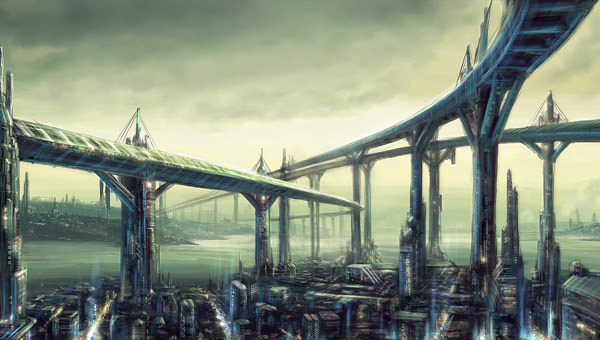 Futuristic City by I-NetGraFX