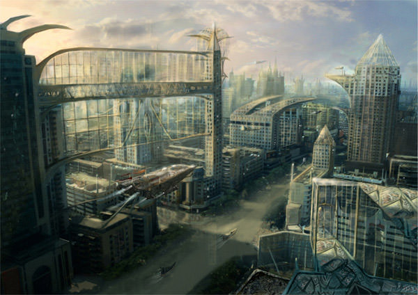 Glass Prison Sci-fi City by GutsBerserk
