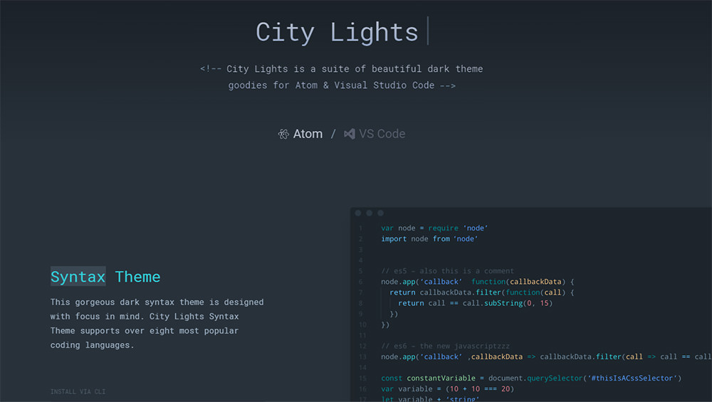 dark citylights ui