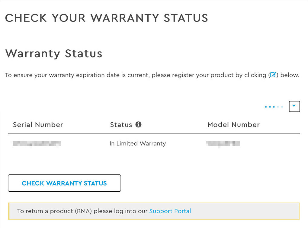 in limited warranty