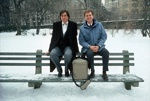 With John Sculley in Central Park, 1984