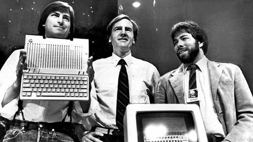 Apple co-founders, Apple IIc launch 1984