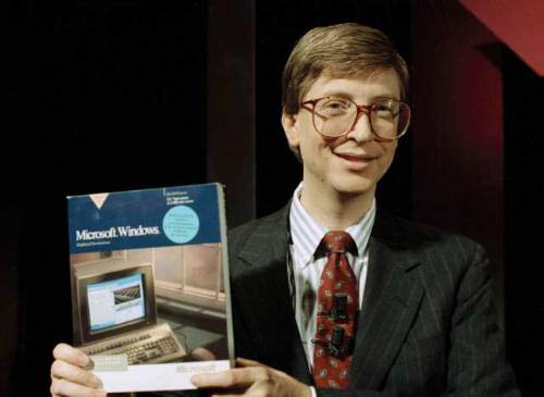 Bill Gates introducing Windows 1.0, 1983