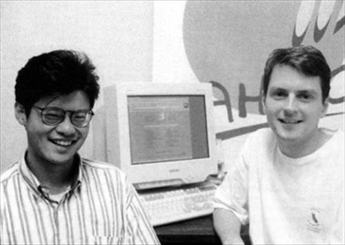 Yahoo! founders, circa 1994