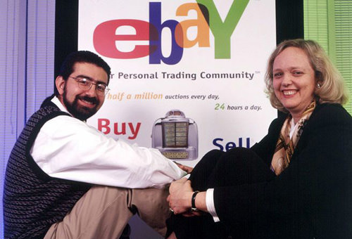 eBay Founder with CEO, circa 1998