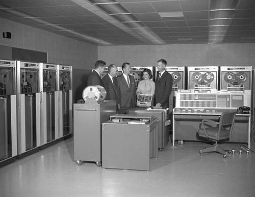 IBM 7090 computer, 1961