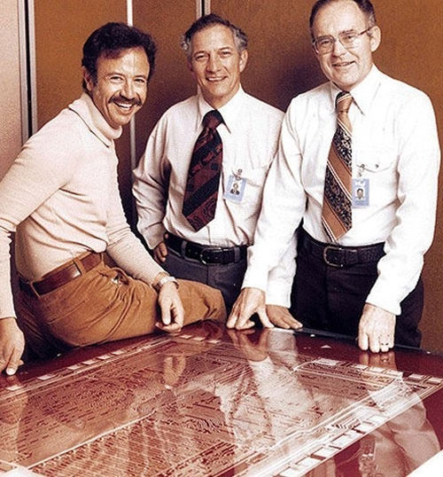 Intel founders and its first hire, 1978