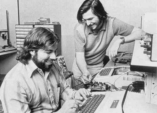 Steve Jobs and Woz, circa 1980