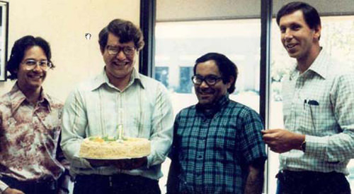 Oracle Founders celebrate Oracle's first anniversary, 1978