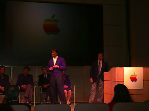 Steve Jobs & Gil Amelio at Apple Town Hall, 1996