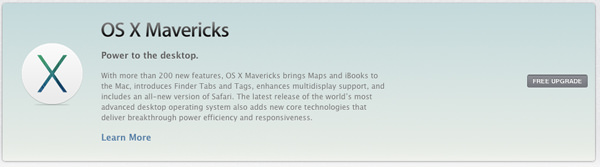 free upgrade mavericks