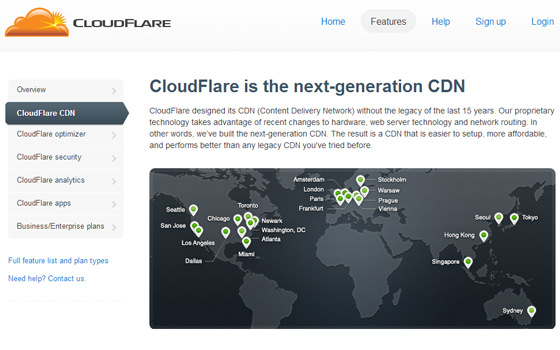 CloudFlare CDN Network hosting map servers