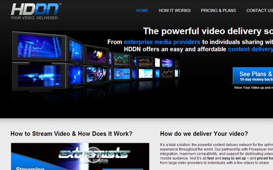 HDDN.com HD Video Streaming CDN cloud hosting 720p 1080p MP4