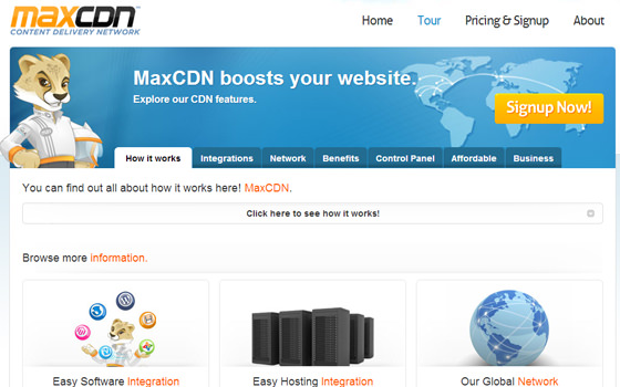 MaxCDN hosting cloud delivery network tour pricing and plans