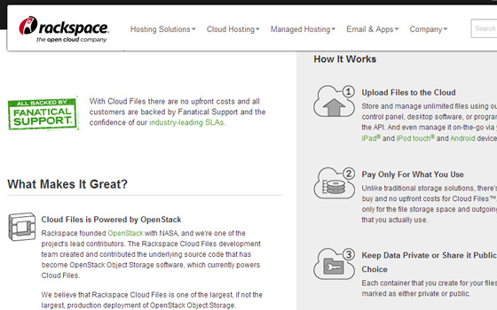 Public Cloud CDN Files Hosting by Rackspace Akami Network