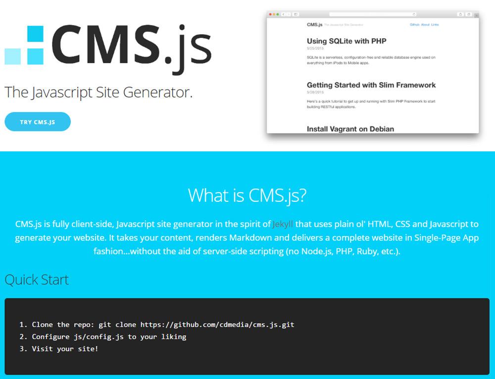 cmsjs homepage