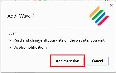 Add the Wave extension