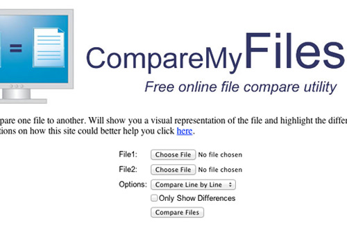 compare my files web app