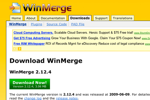 WinMerge home page website