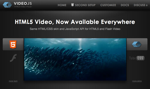 Basic HTML5 and Flash video player VideoJS