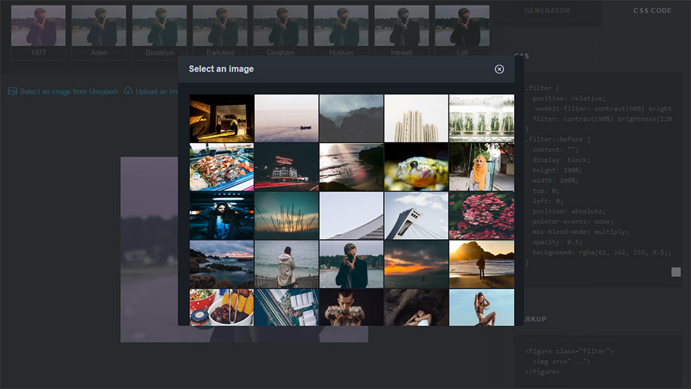 unsplash photo picker