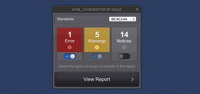 html code sniffer webapp